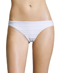 cable patterned bikini bottom