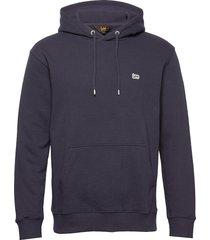 plain hoodie hoodie blå lee jeans