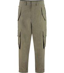 balmain cotton cargo-trousers