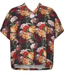 flowers kaftan shirt blouses short-sleeved multi/mönstrad makia