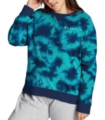 champion plus size tie-dyed sweatshirt