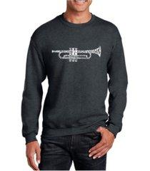 la pop art big & tall men's word art trumpet crewneck sweatshirt
