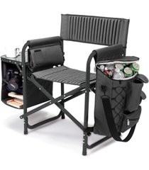 oniva by picnic time dark gray fusion backpack chair with cooler
