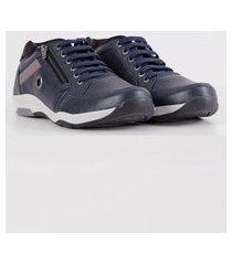 sapatênis calce fácil masculino azul marinho