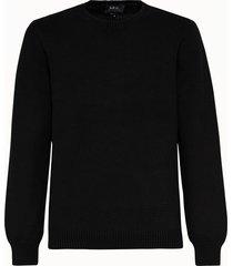 a.p.c. maglia girocollo in cotone nero