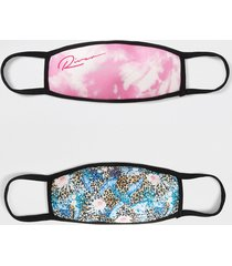 river island girls pink tie dye 2pk face coverings