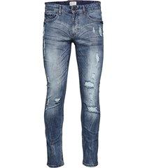 slim fit jeans blue dyed skinny jeans blå shine original