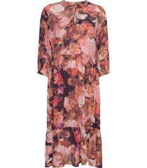 baiakb dress knälång klänning multi/mönstrad karen by simonsen