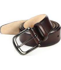 burnished leather belt