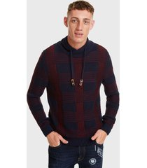 sweater desigual con capucha multicolor - calce regular
