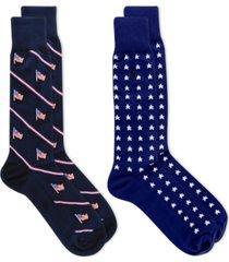 polo ralph lauren men's 2-pk. stars & stripes dress socks