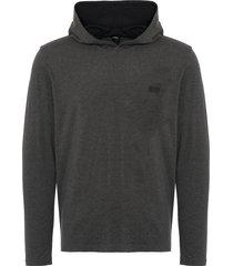 boss by hugo boss mix & match long sleeve hooded sweatshirt - grey 50379022