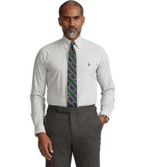 polo ralph lauren men's classic-fit gingham poplin shirt