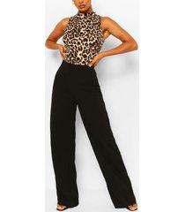 wide leg jumpsuit, black