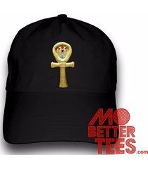 golden ankh dad hat symbol of life choose from black or white, egypt, pryamid