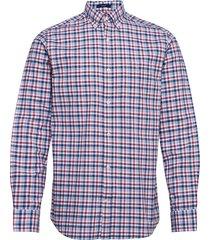 d1. oxford micro madras reg bd overhemd casual rood gant