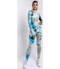 akira run the game tie dye jumpsuit