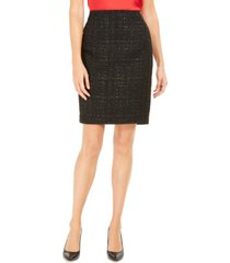 calvin klein petite tweed pencil skirt