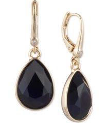 dkny stone teardrop lever back earrings, created for macy's