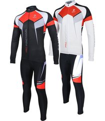 frontier arsuxeo men sports cycling clothes bike bicycle suits jersey long sl...