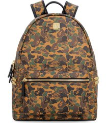 mcm mcm x bape stark side studs visetos backpack