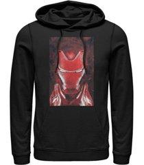 marvel men's avengers endgame red iron man poster, pullover hoodie