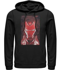 marvel men's avengers endgame red iron man poster, pullover hoodie