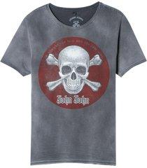 camiseta john john rx red skull malha cinza masculina (cinza chumbo, gg)