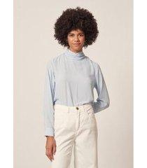 blusa chiffon decote amarração - feminina - feminino