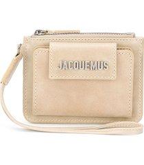 jacquemus le porte olive wallet - neutrals