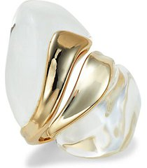 10k goldplated & lucite sculptural ring