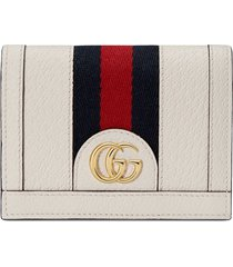 gucci ophidia card case - white