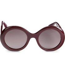 jimmy choo women's 51mm round sunglasses - red