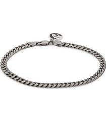 black rhodium-plated sterling silver miami cuban link chain bracelet