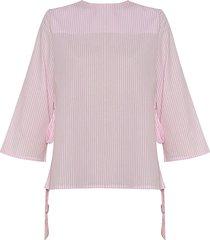 camisa carla lazos rayas rosadas varini