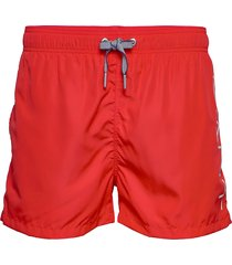 logo swim shorts lightweight badshorts röd gant
