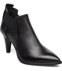 tuva shoes boots ankle boots ankle boot - heel svart nude of scandinavia