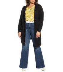 plus size women's halogen long cardigan, size 2x