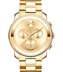 men's movado bold chronograph bracelet watch, 44mm