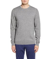 men's big & tall nordstrom men's shop cotton & cashmere crewneck sweater, size 4x-large - grey
