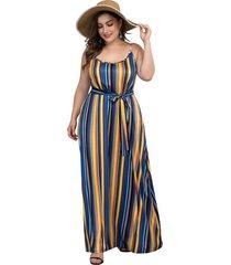ropa de gran tamaño para mujer vestido de playa a rayas sexy para mujer sin