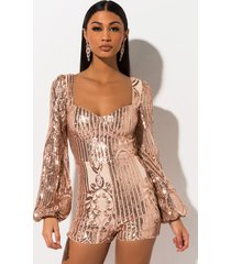 akira take me out sequin romper