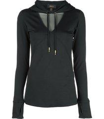 alala flyweight hooded top - black