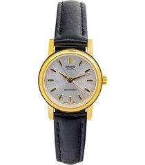 reloj casio ltp_1095q_7a negro cuero