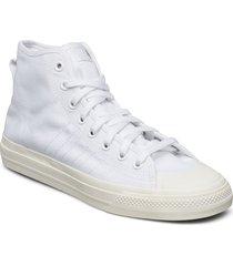 nizza hi rf höga sneakers vit adidas originals
