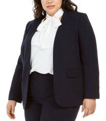 bar iii trendy plus size open-front blazer, created for macy's