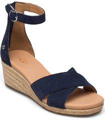 w eugenia sandalette med klack espadrilles blå ugg