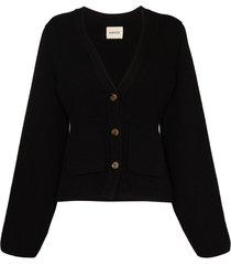 khaite scarlett cashmere cardigan - black