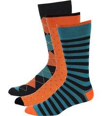3-pack patterned crew socks