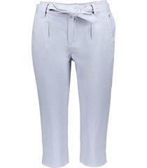 geisha 01019-10 600 capri short with strap at waist light blue blauw